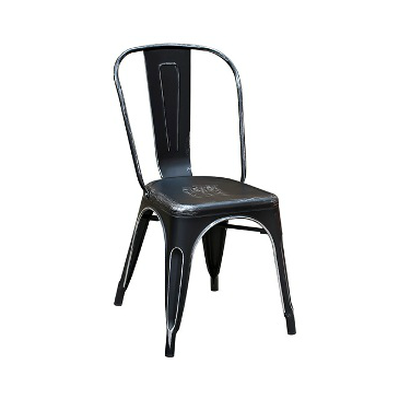 Black Weathered Finish Tolix Chair