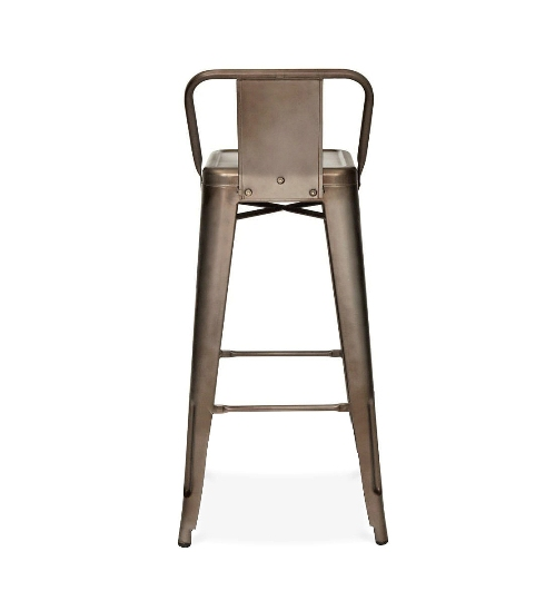 Rusted finish low back tolix bar stool - Tolix low back bar stool ...