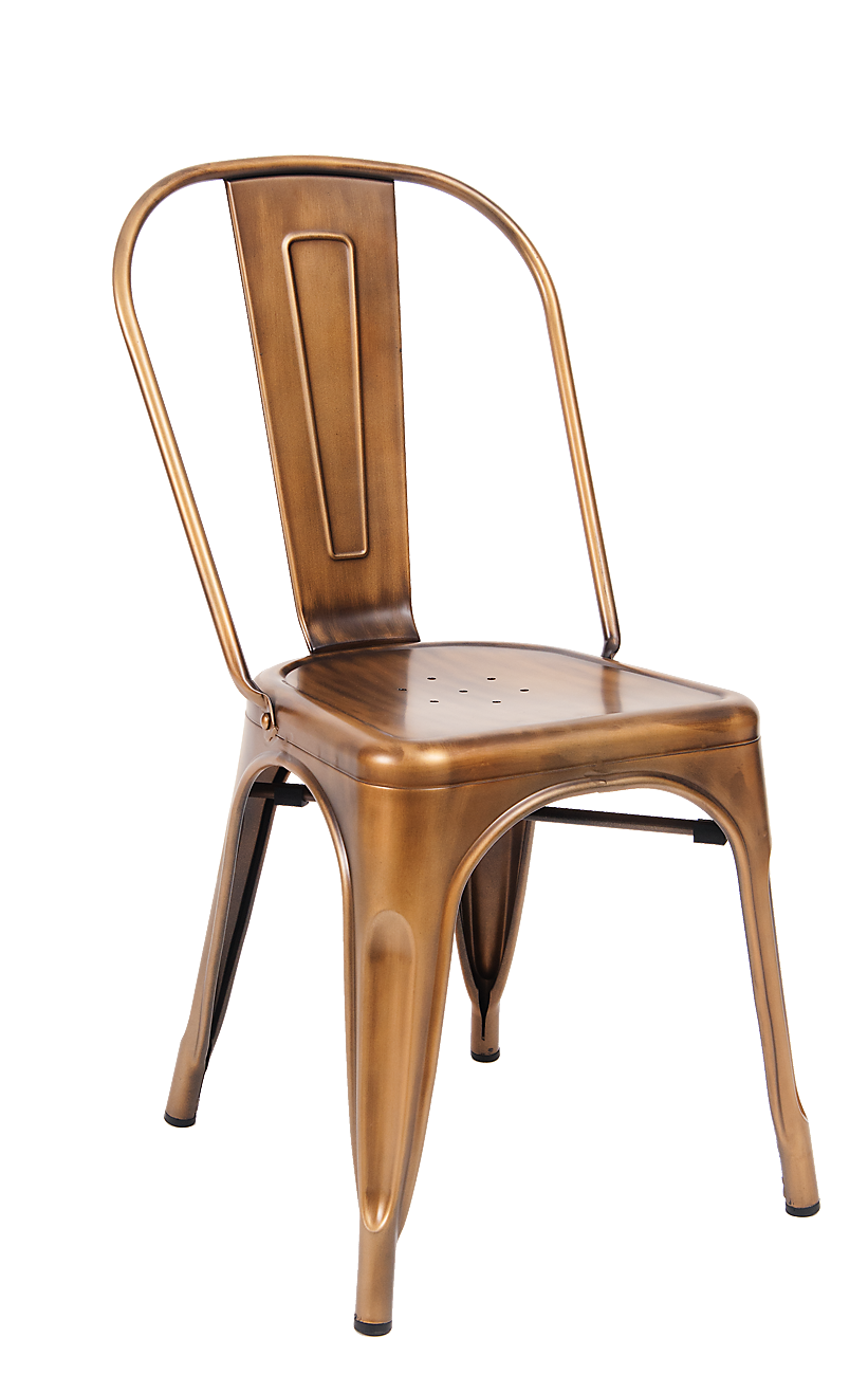 Custom Bronze Finish Tolix Chair Metalrestaurantchairs Com