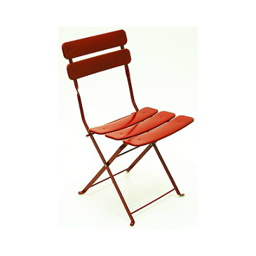 Carolina In-Outdoor Metal Folding Red Side Chair