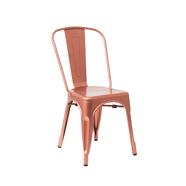 Light Rose Copper Finish Tolix Chair 2