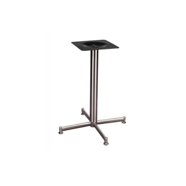 Brushed Steel Alexis Outdoor Indoor Criss Cross Table Base 24 x 24