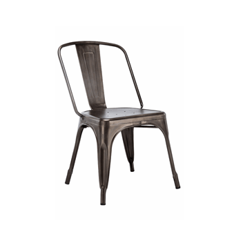 Big Boy Oxidized Finish Metal Tolix Chair Size XXL