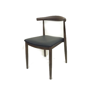 TBD Provence Metal Wood Grain Frame Dark Walnut Upholstered Dining Chair